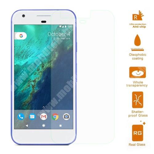 Előlap védő karcálló edzett üveg - 0,3 mm vékony, 9H, Arc Edge - Google Pixel