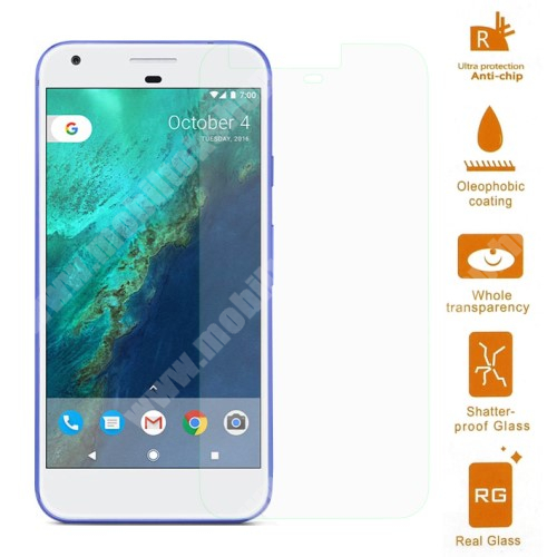 Előlap védő karcálló edzett üveg - 0,3 mm vékony, 9H, Arc Edge - Google Pixel XL