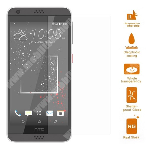 Előlap védő karcálló edzett üveg - 0,3 mm vékony, 9H, Arc Edge - HTC Desire 530