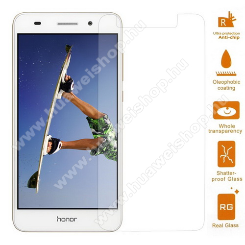 HUAWEI Honor 5A Előlap védő karcálló edzett üveg - 0,3 mm vékony, 9H, Arc Edge - HUAWEI Honor 5A / HUAWEI Y6 II / HUAWEI Honor Holly 3
