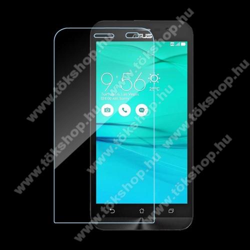 Előlap védő karcálló edzett üveg - 0,3 mm vékony, 9H, Arc Edge - ASUS ZenFone Go (ZB500KL)