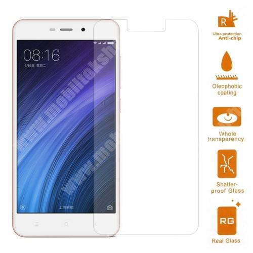 Előlap védő karcálló edzett üveg - 0,3 mm vékony, 9H, Arc Edge - Xiaomi Redmi 4a