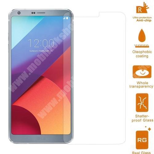 Előlap védő karcálló edzett üveg - 0,3 mm vékony, 9H, Arc Edge - LG G6 / LG G6 Plus