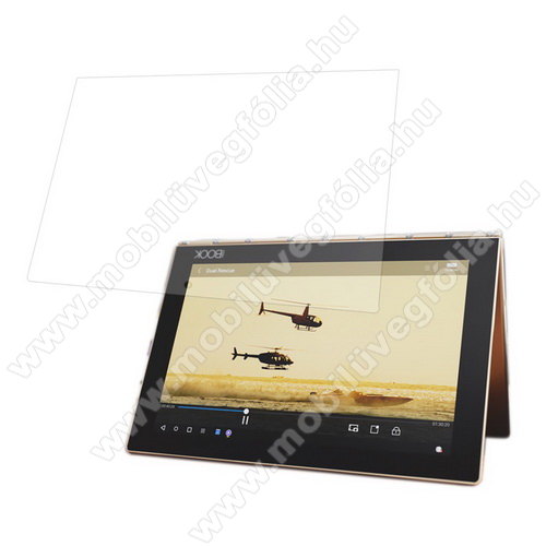 Előlap védő karcálló edzett üveg - 0,3 mm vékony, 9H, Arc Edge, A képernyő sík részét védi - Lenovo Yoga Book