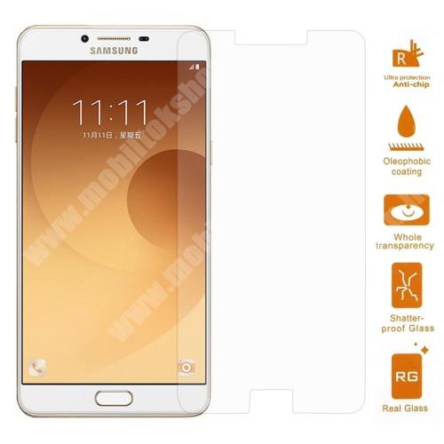 SAMSUNG SM-C9000 Galaxy C9 Pro Előlap védő karcálló edzett üveg - 0,3 mm vékony, 9H, Arc Edge, A képernyő sík részét védi - SAMSUNG SM-C9000 Galaxy C9 Pro