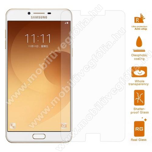 Előlap védő karcálló edzett üveg - 0,3 mm vékony, 9H, Arc Edge, A képernyő sík részét védi - SAMSUNG SM-C9000 Galaxy C9 Pro