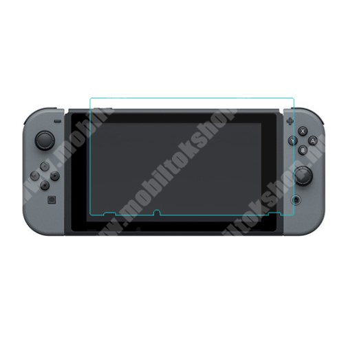 Előlap védő karcálló edzett üveg - 0,3 mm vékony, 9H, Arc Edge - Nintendo Switch