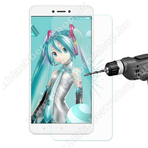 Előlap védő karcálló edzett üveg - 0,3 mm vékony, 9H, Arc Edge, A képernyő sík részét védi - Xiaomi Redmi Note 4X (Global version)