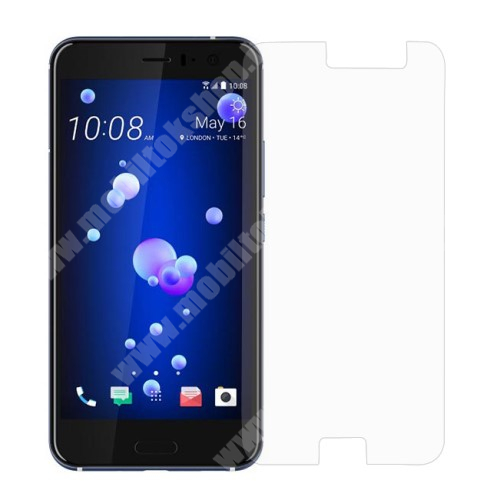 Előlap védő karcálló edzett üveg - 0,3 mm vékony, 9H, Arc Edge - HTC U11
