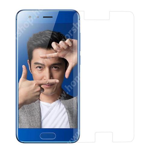 HUAWEI Honor 9 Előlap védő karcálló edzett üveg - 0,3 mm vékony, 9H, Arc Edge, A képernyő sík részét védi - HUAWEI Honor 9 / HUAWEI Honor 9 Premium