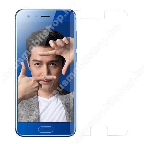 Előlap védő karcálló edzett üveg - 0,3 mm vékony, 9H, Arc Edge, A képernyő sík részét védi - HUAWEI Honor 9 / HUAWEI Honor 9 Premium