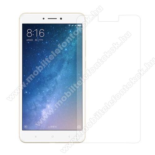Előlap védő karcálló edzett üveg - 0,3 mm vékony, 9H, Arc Edge, A képernyő sík részét védi - Xiaomi Mi MAX 2
