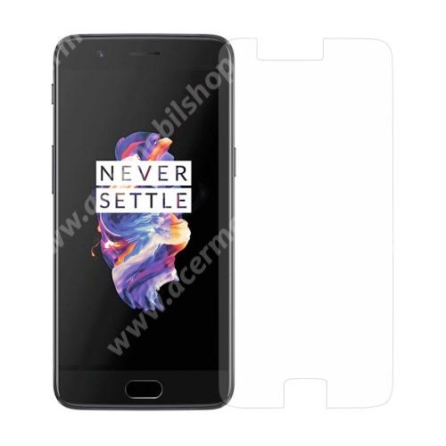 Előlap védő karcálló edzett üveg - 0,3 mm vékony, 9H, Arc Edge - OnePlus 5