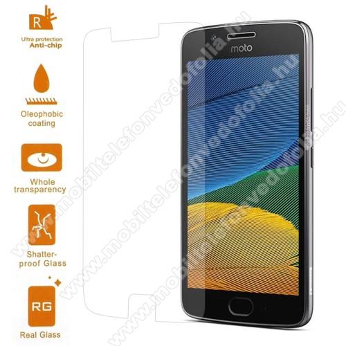 Előlap védő karcálló edzett üveg - 0,3 mm vékony, 9H, Arc Edge - Motorola Moto G5