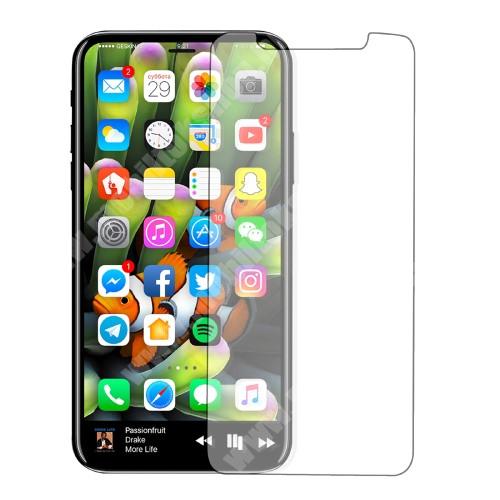 Előlap védő karcálló edzett üveg - 0,3 mm vékony, 9H, Arc Edge - APPLE iPhone X