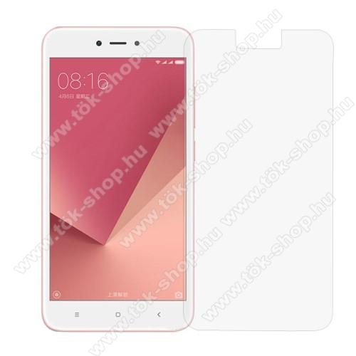 Előlap védő karcálló edzett üveg - 0,3 mm vékony, 9H, Arc Edge, A képernyő sík részét védi - Xiaomi Redmi Note 5A / Xiaomi Redmi Y1 Lite