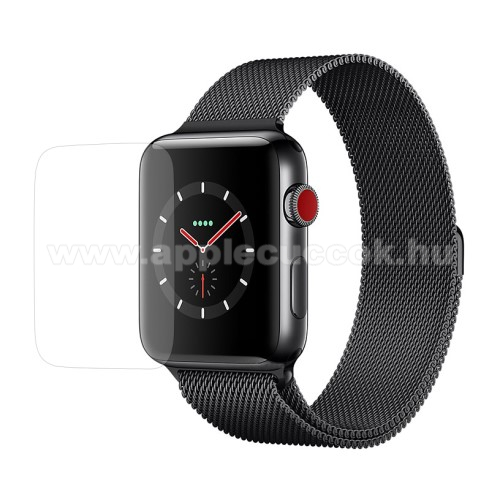 APPLE Watch Series 3 38mm Előlap védő karcálló edzett üveg - 0.3mm 9H - APPLE Watch Series 3 38mm
