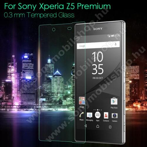 Előlap védő karcálló edzett üveg - 0,3mm, 9H, Arc Edge - SONY Xperia Z5 Premium / Z5 Premium Dual