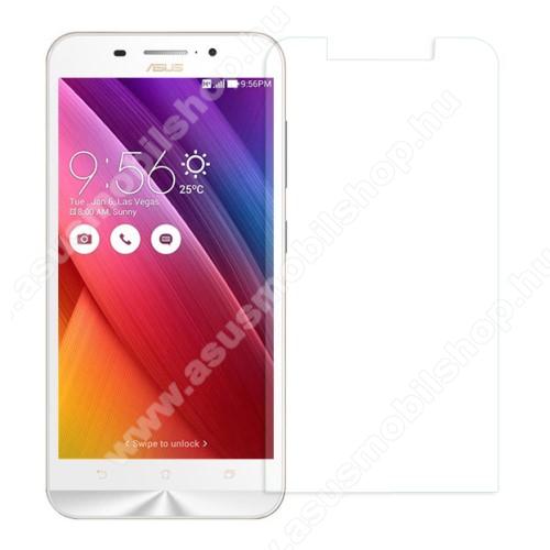 Előlap védő karcálló edzett üveg - 0,3mm, 9H, Arc Edge, A képernyő sík részét védi - ASUS Zenfone Max (ZC550KL)