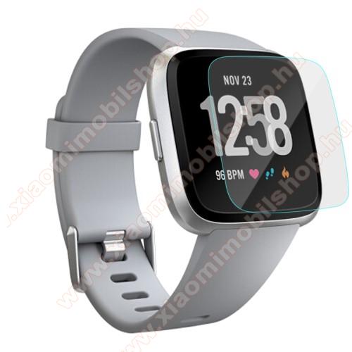 Előlap védő karcálló edzett üveg - 1db - 0,3 mm vékony, 9H, Arc Edge - Fitbit Versa