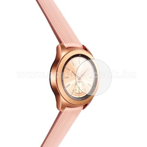 Előlap védő karcálló edzett üveg - 1db - 0.3mm, 9H, A képernyő sík részét védi - SAMSUNG Galaxy Watch 42mm