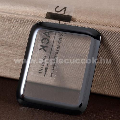 APPLE Watch Series 3 42mmElőlap védő karcálló edzett üveg - 1db, 9H, 3D - A TELJES ELŐLAPOT VÉDI! - FEKETE - Apple Watch 1/2/3 - 42mm
