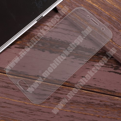 Előlap védő karcálló edzett üveg - 2.5D, arc edge, a teljes képernyőt védi - ÁTLÁTSZÓ - SAMSUNG SM-A720F Galaxy A7 (2017)