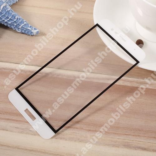 Előlap védő karcálló edzett üveg - 2.5D, arc edge, a teljes képernyőt védi - FEHÉR - ASUS Zenfone 3 Max (ZC520TL)