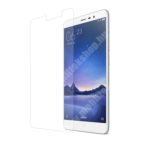 Xiaomi Redmi Note 3 (MediaTek) Előlap védő karcálló edzett üveg - 9H, 0,3mm, Arc Edge - Xiaomi Redmi Note 3 / Redmi Note 3 (MediaTek) / Redmi Note 3 Pro