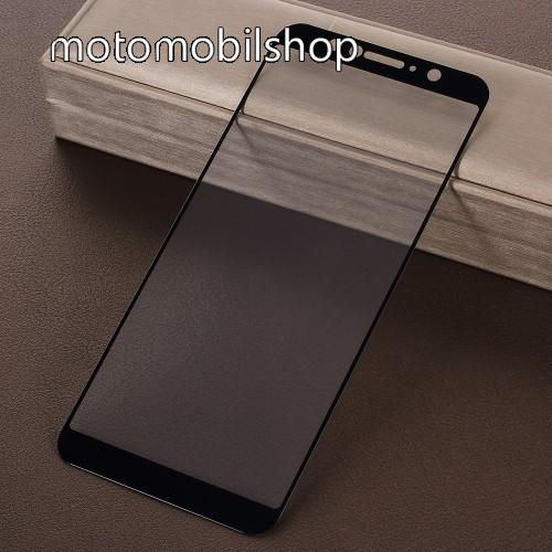 Előlap védő karcálló edzett üveg - 9H, 2.5D, Arc Edge - FEKETE - A TELJES KIJELZŐT VÉDI! - ASUS Zenfone Max Pro (M1) (ZB602KL) / ASUS Zenfone Max Pro (M1) (ZB601KL)
