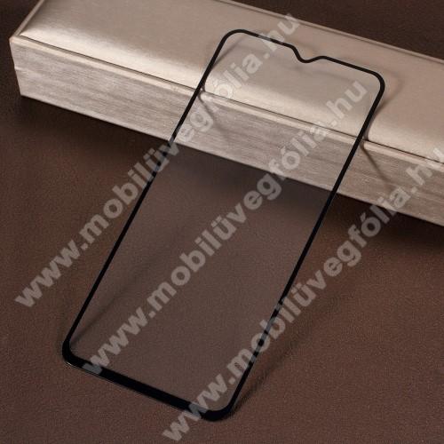 Előlap védő karcálló edzett üveg - 9H, 2.5D, Arc Edge - FEKETE - A TELJES KIJELZŐT VÉDI! - SAMSUNG SM-A305F Galaxy A30 / SAMSUNG SM-A505F Galaxy A50