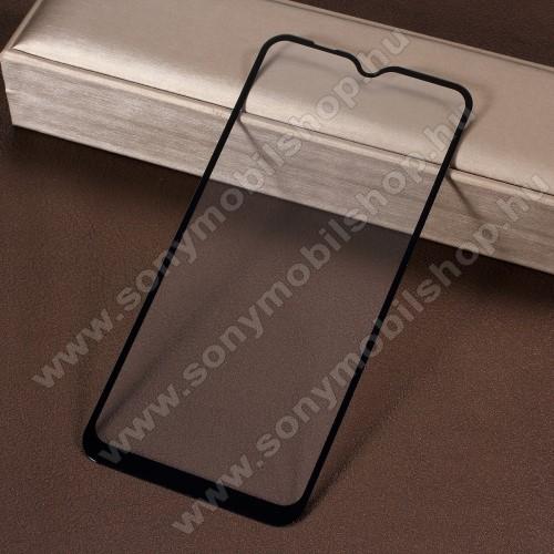 Előlap védő karcálló edzett üveg - 9H, 2.5D, Arc Edge, A teljes felületén tapad! - FEKETE - A TELJES KIJELZŐT VÉDI! - SAMSUNG SM-M105F Galaxy M10