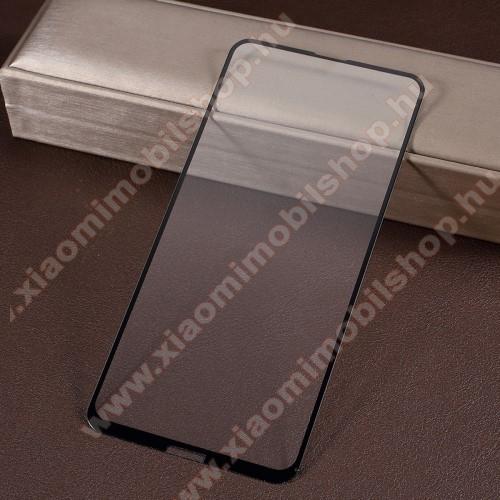 Előlap védő karcálló edzett üveg - 9H, 2.5D, Arc Edge - FEKETE - A TELJES KIJELZŐT VÉDI! - NOKIA 8.1 Plus