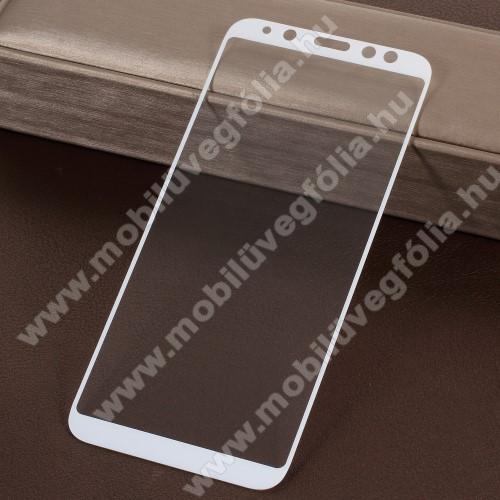 Előlap védő karcálló edzett üveg - 9H, 5D, Arc Edge, a teljes képernyőt védi! - FEHÉR - SAMSUNG SM-A600F Galaxy A6 (2018)