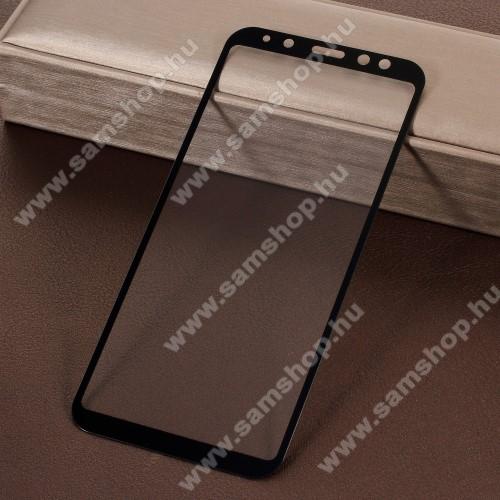 SAMSUNG SM-A600F Galaxy A6 (2018)Előlap védő karcálló edzett üveg - 9H, 5D, Arc Edge, a teljes képernyőt védi! - FEKETE - SAMSUNG SM-A600F Galaxy A6 (2018)