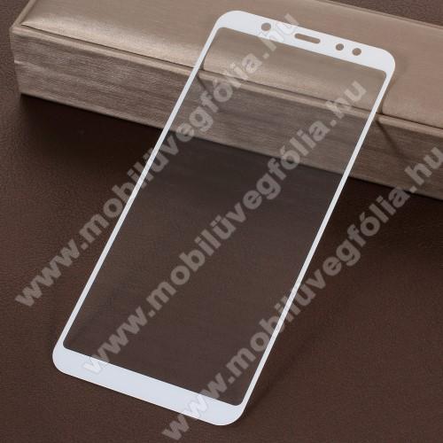 Előlap védő karcálló edzett üveg - 9H, 5D, Arc Edge, a teljes képernyőt védi! - FEHÉR - SAMSUNG SM-A605G Galaxy A6 Plus (2018)