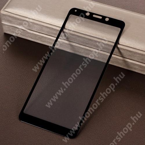 Előlap védő karcálló edzett üveg - 9H, Arc Edge, a teljes képernyőt védi! - FEKETE - Xiaomi Redmi 6 / Xiaomi Redmi 6A