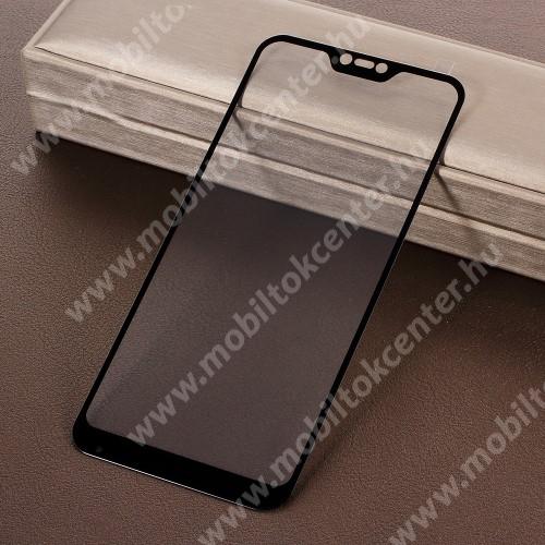 Előlap védő karcálló edzett üveg - 9H, Arc Edge, a teljes képernyőt védi! - FEKETE - Xiaomi Redmi 6 Pro / Xiaomi Mi A2 Lite