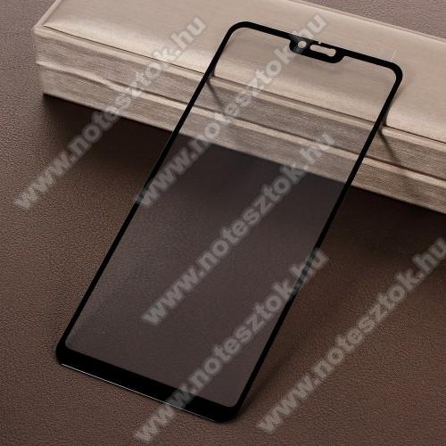 Xiaomi Redmi Note 6 ProElőlap védő karcálló edzett üveg - 9H, Arc Edge, a teljes képernyőt védi! - FEKETE - Xiaomi Redmi Note 6 Pro