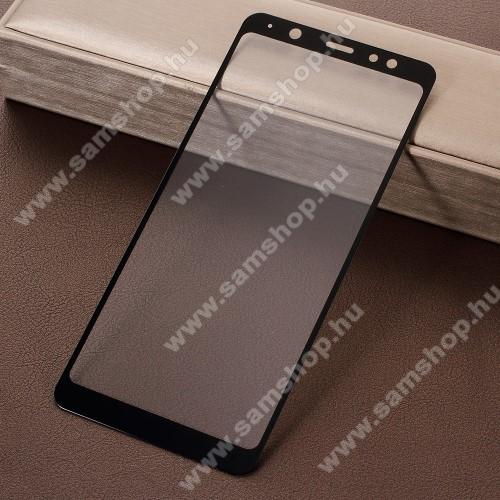 SAMSUNG SM-A605G Galaxy A6 Plus (2018)Előlap védő karcálló edzett üveg - A TELJES KIJELZŐT VÉDI! - FEKETE - SAMSUNG SM-A605G Galaxy A6 Plus