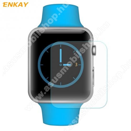 Előlap védő karcálló edzett üveg - ENKAY - 2db, 0.2mm 9H, 2.15D - Apple Watch 1/2/3 - 38mm