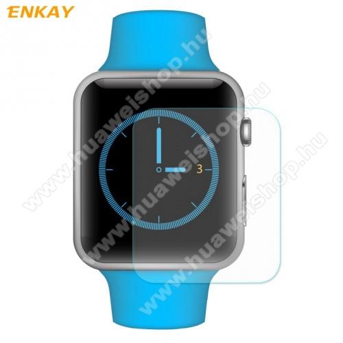 Előlap védő karcálló edzett üveg - ENKAY - 1db, 0.2mm 9H, 2.15D, A képernyő sík részét védi - Apple Watch 1/2/3 - 42mm - GYÁRI