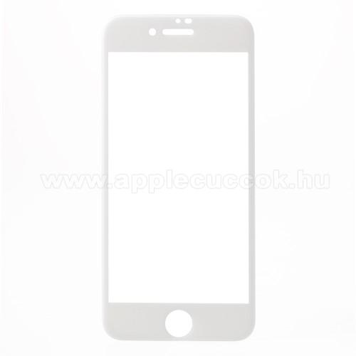 Előlap védő karcálló edzett üveg - FEHÉR - 9H, Anti-Blue-ray, 4D, A TELJES KIJELZÕT VÉDI! - APPLE iPhone 7 / APPLE iPhone 8