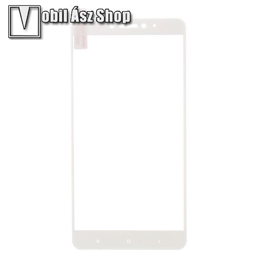 Előlap védő karcálló edzett üveg - FEHÉR - 9H - Xiaomi Mi Max 2 - A TELJES KIJELZŐT VÉDI!