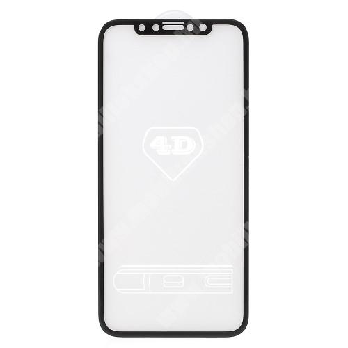 APPLE iPhone XS Előlap védő karcálló edzett üveg - FEKETE - 9H - APPLE iPhone X / APPLE iPhone XS - A TELJES KIJELZŐT VÉDI!