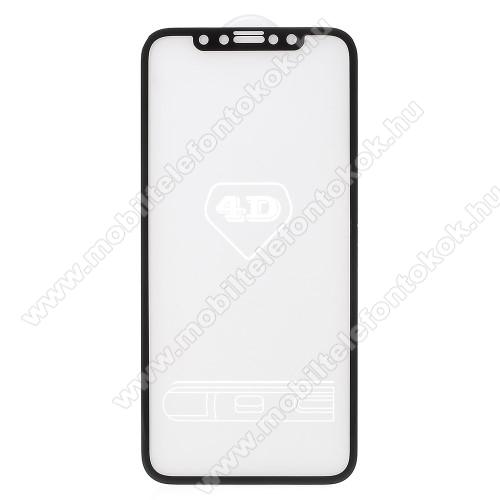 APPLE iPhone XSElőlap védő karcálló edzett üveg - FEKETE - 9H - APPLE iPhone X / APPLE iPhone XS - A TELJES KIJELZŐT VÉDI!