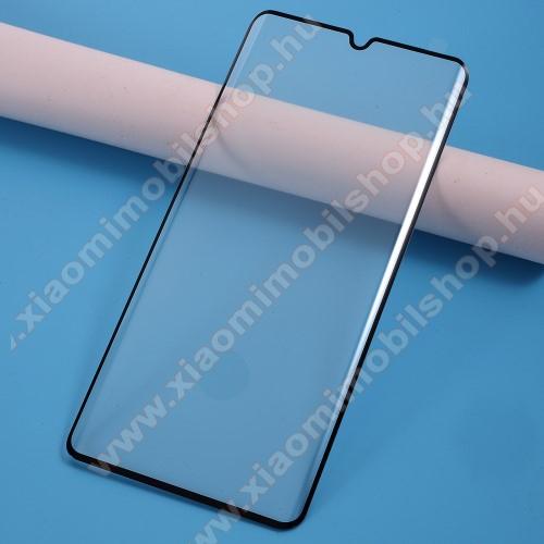 Előlap védő karcálló edzett üveg - FEKETE - 9H, Arc Edge - A TELJES KIJELZŐT VÉDI! - Xiaomi Mi Note 10 / Xiaomi Mi Note 10 Pro / Xiaomi Mi CC9 Pro / Xiaomi Mi Note 10 Lite