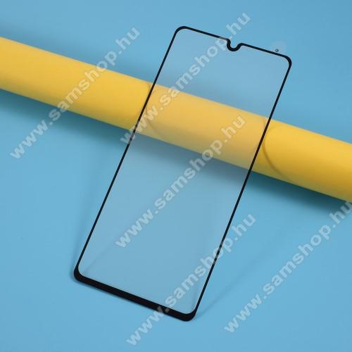SAMSUNG Galaxy A41 (SM-A415F)Előlap védő karcálló edzett üveg - FEKETE - 9H, Arc Edge, A TELJES KIJELZŐT VÉDI! - SAMSUNG Galaxy A41 (SM-A415F)