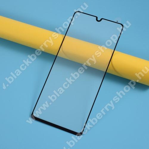 Előlap védő karcálló edzett üveg - FEKETE - 9H, Arc Edge, A TELJES KIJELZŐT VÉDI! - SAMSUNG Galaxy A41 (SM-A415F)