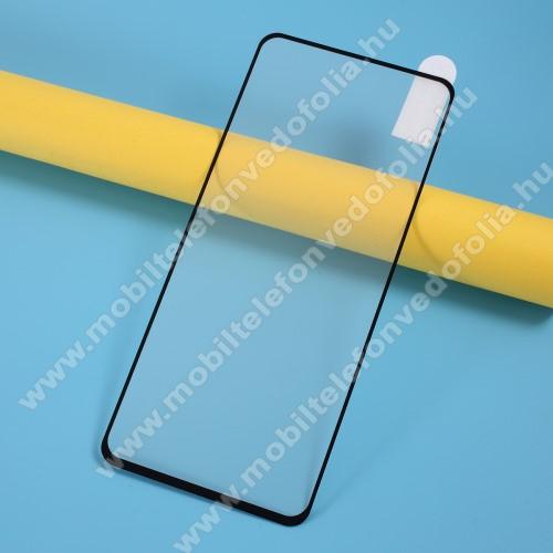 Előlap védő karcálló edzett üveg - FEKETE - 9H, Arc Edge - A TELJES KIJELZŐT VÉDI! - Xiaomi Redmi Note 9S / Redmi Note 9 Pro / Redmi Note 9 Pro Max / Poco M2 Pro
